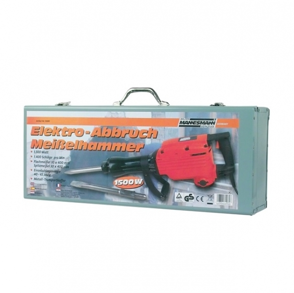 Ciocan demolator electric Mannesmann M12680, 1500 W, 1400 bpm, 40 J 1