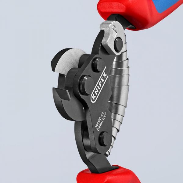 Cleste de taiat cabluri metalice Knipex KNI9562160, 160 mm 2