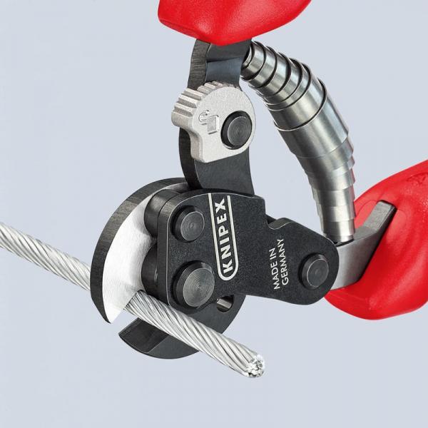 Cleste de taiat cabluri metalice Knipex KNI9562160, 160 mm 3