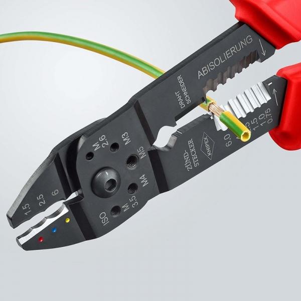 Cleste profesional pentru sertizat Knipex KNI9721215, 230 mm 6