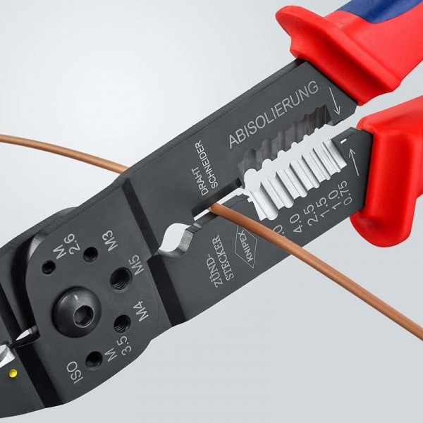 Cleste profesional pentru sertizat Knipex KNI9721215, 230 mm 5