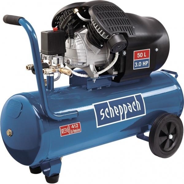 Compresor cu doi cilindri HC53DC Scheppach SCH5906102901, 2200 W, 50L, 10 bari 0