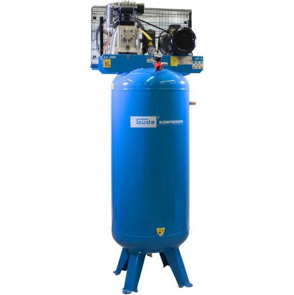 Compresor staționar cu piston dublu Guede GUDE01747, 3000 W, 200 L, 10 bari 0