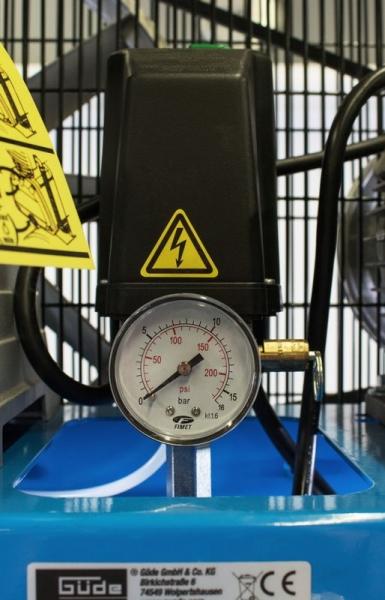 Compresor stationar cu piston dublu Guede GUDE01747, 3000 W, 200 L, 10 bari 5