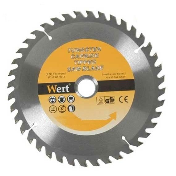 Disc de tăiere lemn tip TCT pentru fierăstrău circular Wert W2540-115, Ø115 mm 0
