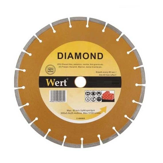 Disc diamantat, taiere marmura, granit, faianta Wert W2711-115, Ø115x22.2 mm 0