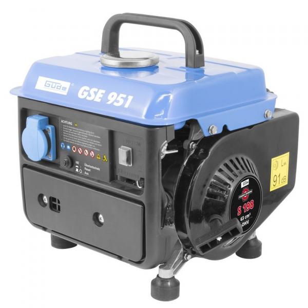 Generator de curent pe benzina GSE 951 Guede GUDE40726, 650 W 0