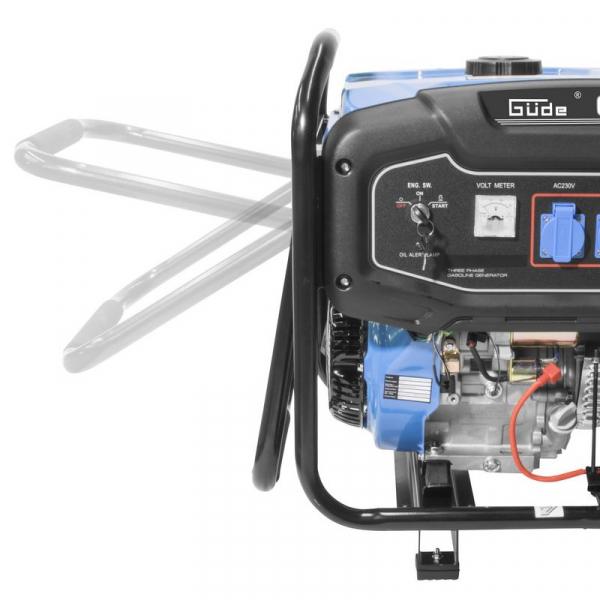 Generator de curent pe benzină GSE 6701 RS Guede GUDE40730, 9000 W, 2x230 V, 1x400 V 1