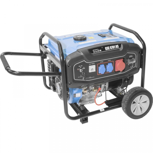 Generator de curent pe benzină GSE 6701 RS Guede GUDE40730, 9000 W, 2x230 V, 1x400 V 2