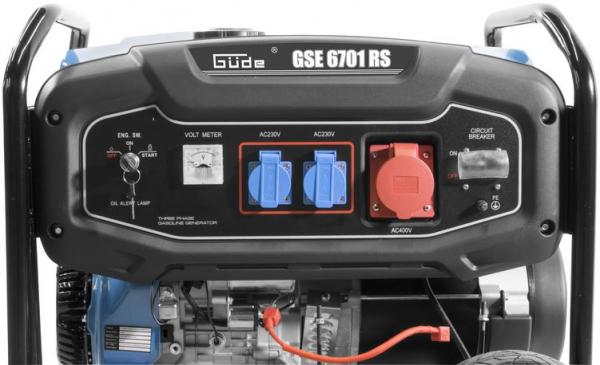 Generator de curent pe benzină GSE 6701 RS Guede GUDE40730, 9000 W, 2x230 V, 1x400 V 4