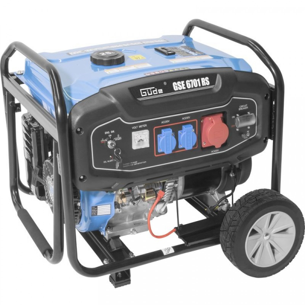 Generator de curent pe benzină GSE 6701 RS Guede GUDE40730, 9000 W, 2x230 V, 1x400 V 0