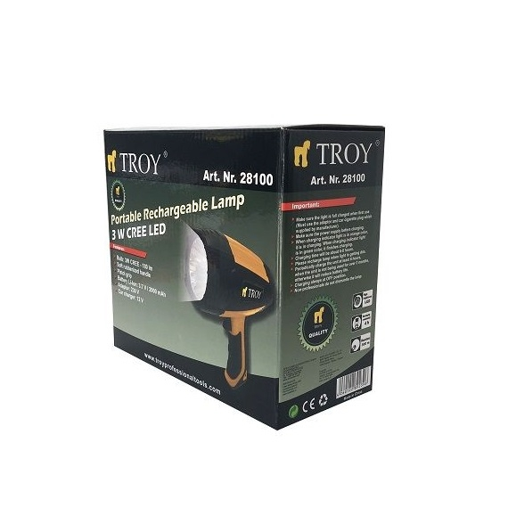 Lanterna CREE LED reincarcabila Troy 28100, 12-220 V, 180 lm 5
