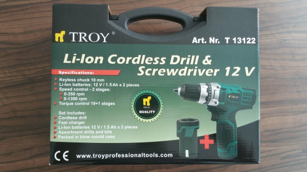 Maşină de găurit şi înşurubat cu doi acumulatori Troy T13122, 2x12 V, 1.5 Ah 10