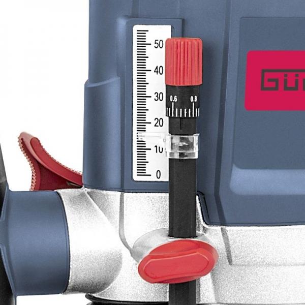 Masina de frezat verticală/router 1200 AE Guede GUDE58117, 1200 W, suport bucșă elastică 6+8 mm 1