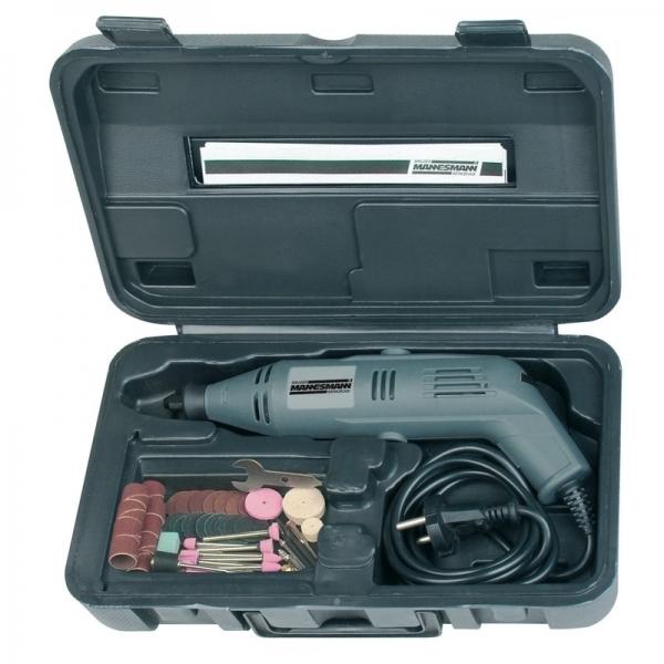 Set mini-polizor si accesorii Mannesmann M92575, 130 W, 50 piese 0
