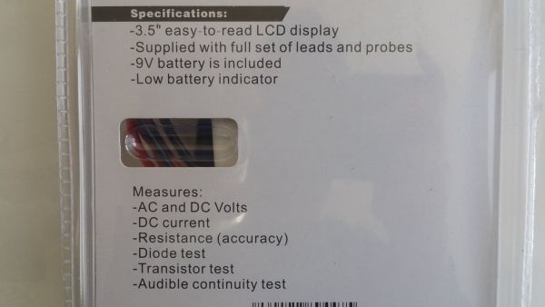 Multimetru digital Wert W2450, DC-AC, 500 V 3