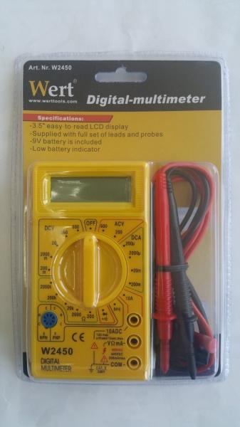 Multimetru digital Wert W2450, DC-AC, 500 V 1