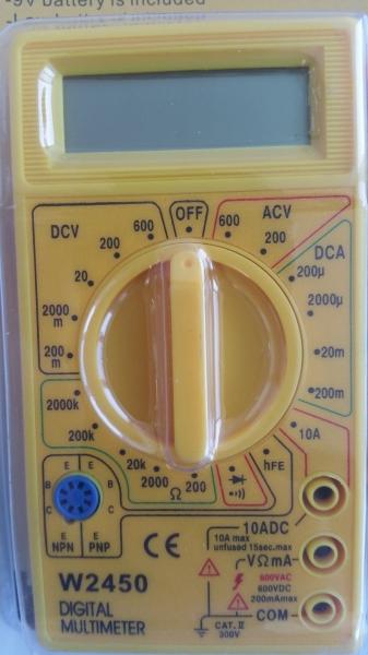 Multimetru digital Wert W2450, DC-AC, 500 V 2