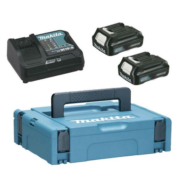 Pachet încărcător + acumulatori Power Source Kit Makpac1 + BL1015 x2 + DC10SA 10.8 V 0