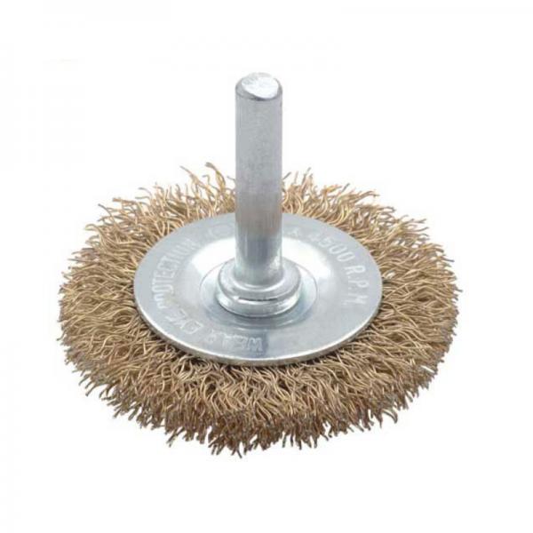 Perie de sarma circulara cu tija Troy T27703-100, 100 mm 0