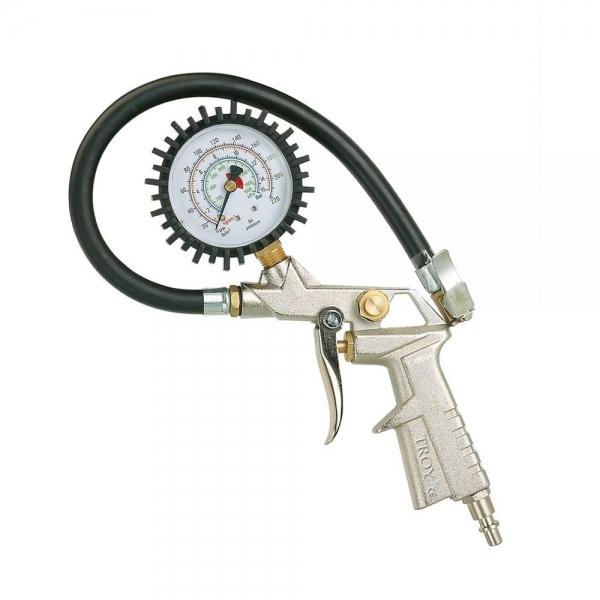 Pistol pentru umflarea anvelopelor cu manometru Troy T18604, 10 bari 0