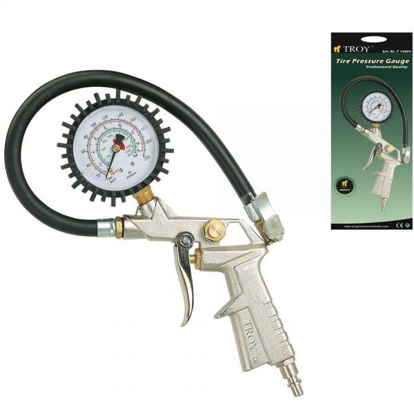 Pistol pentru umflarea anvelopelor cu manometru Troy T18604, 10 bari 1