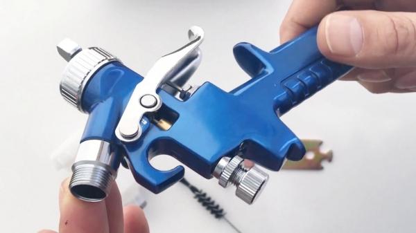 Pistol de vopsit cu aer comprimat Troy T18620, 125 ml, Ø1.0 mm 2