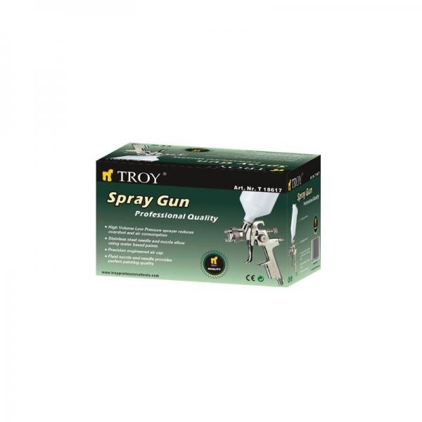 Pistol de vopsit cu aer comprimat Troy T18617, 600 ml, Ø1.4 mm 1