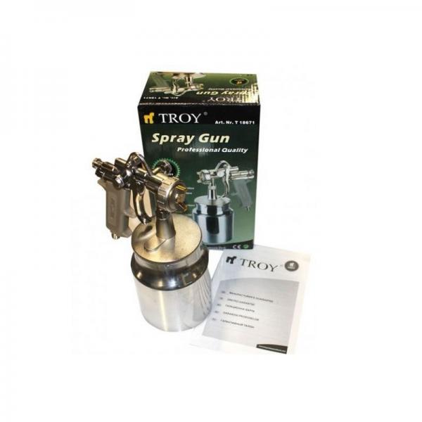 Pistol de vopsit cu aer comprimat 1000ml Troy T18671, Ø1,5mm 1