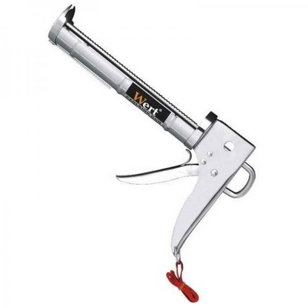 Pistol pentru silicon, zincat cu teava danturata Wert W2700-A 0