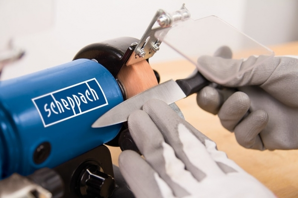 Polizor de banc pentru lustruire HG34 + cutie de accesorii Scheppach SCH5903106901, 120 W, 9900 rpm 3