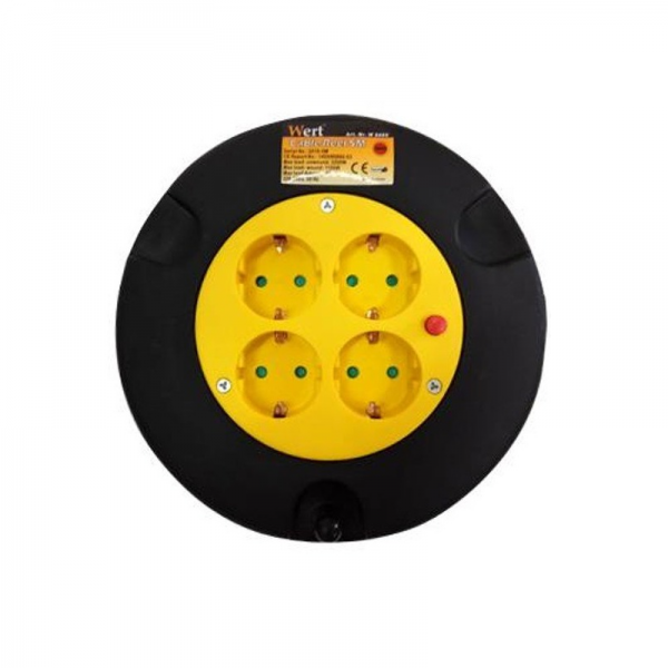 Prelungitor electric pe tambur 4 prize Wert W2455, 5 m 0