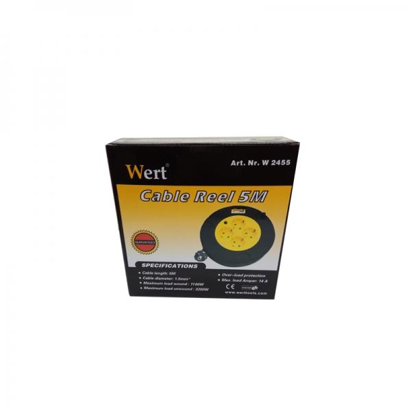 Prelungitor electric pe tambur 4 prize Wert W2455, 5 m 1