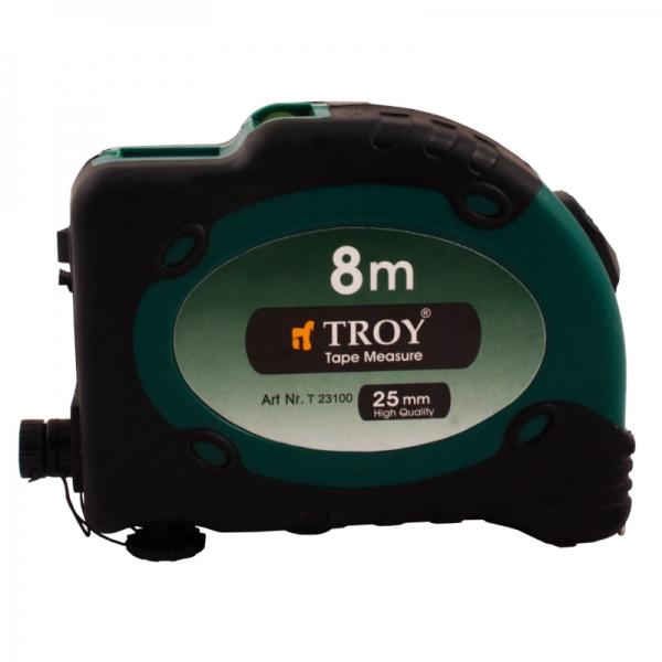 Ruletă cu laser, 8m x 25 mm TROY 0