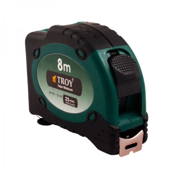 Ruletă cu laser, 8m x 25 mm TROY 1