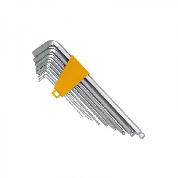 Set chei imbus Hex cu cap rotund Wert W2250, 1.5-10 mm, 9 piese 0