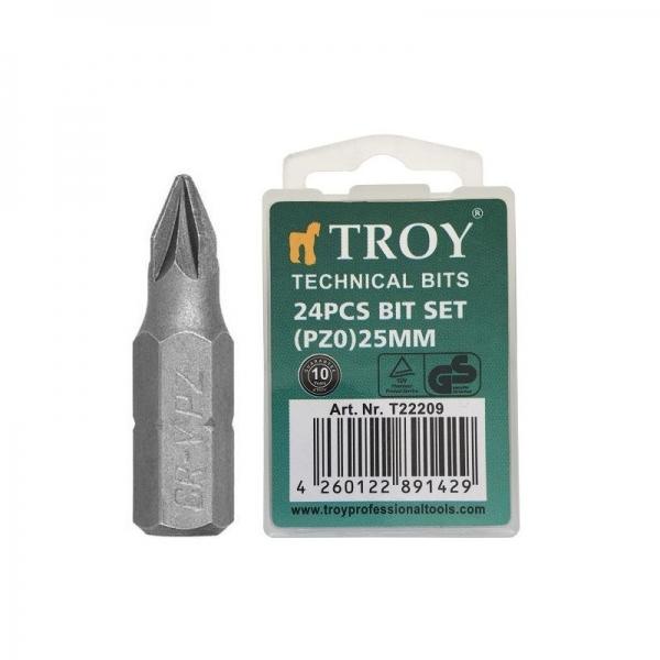 Set de biti Troy T22209, PZ0, 25 mm, 24 bucati 0