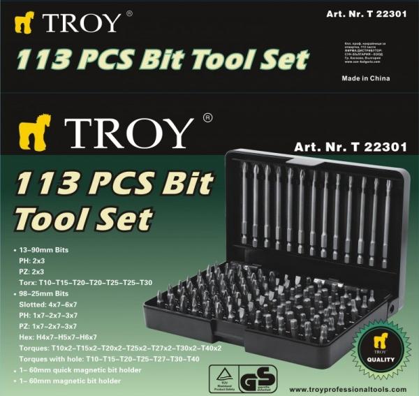 Trusa de biti Troy T22301, 113 bucati 1