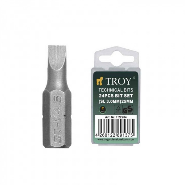 Set de biti Troy T22204, SL3, 25 mm, 24 bucati 0