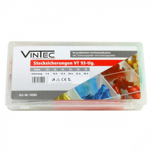 Set sigurante auto plate Vintec VNTC74502, 93 piese 0