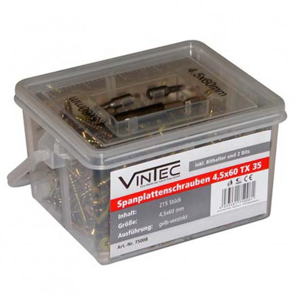 Set suruburi Vintec VNTC75008, Ø4x60 mm, 215 piese 0