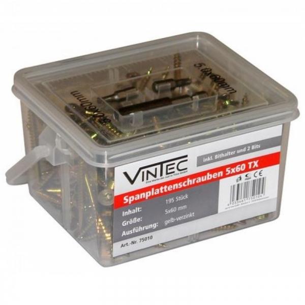 Set suruburi Vintec VNTC75010, Ø5x60 mm, 195 piese 0