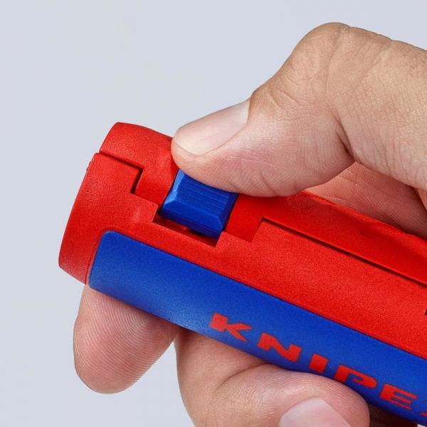 Taietor de teava ondulata si dezizolator Knipex KNI902202SB, Ø13-32 mm 6
