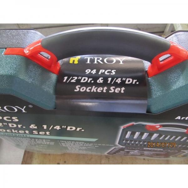 Trusa chei tubulare si biti Troy T26101, 94 piese 7