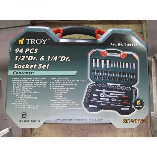 """Trusă chei tubulare și biţi 1/2"""" și 1/4"""" Troy T26101, 94 piese 8"""