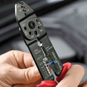 Cleste profesional pentru sertizat Knipex KNI9721215B, 230 mm3