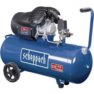 Compresor cu doi cilindrii HC100DC Scheppach SCH5906120901, 2200 W, 100 L, 8 bari0
