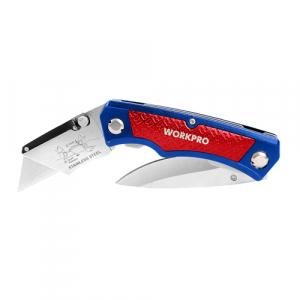 Briceag cutit si cutter cu lama trapezoidala Workpro HGSW0110110