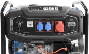 Generator de curent pe benzină GSE 6701 RS Guede GUDE40730, 9000 W, 2x230 V, 1x400 V4