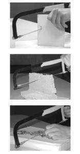 Panza fierastrau pentru tăiere ceramică, geam, tablă, lemn Troy T27498, 300 mm2